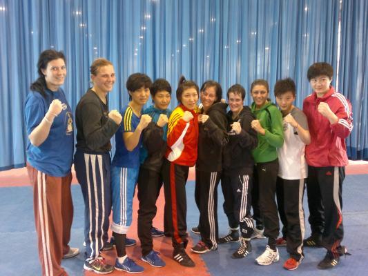 Pekingben a lányok